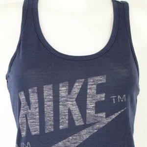 "Nike Blue ""Track & Field"" Graphic Tank Size Small"